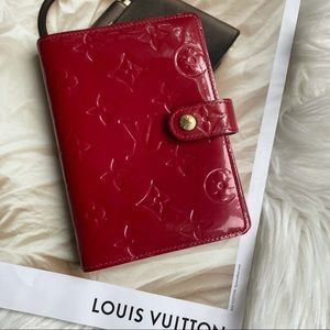 Louis Vuitton Red Vernis Agenda PM Notebook